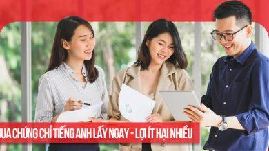 Photo of Có nên mua chứng chỉ tiếng Anh lấy ngay tại Hà Nội, Tphcm